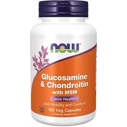 NOW Foods Glucosamine & Chondroitin and MSM 180 caps.
