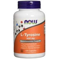 NOW Foods L-Tyrosine 500mg 120 caps.