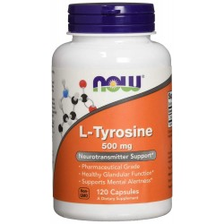 NOW Foods L-Tyrosine 500mg 120 caps.