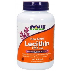 NOW Lecithin 1200mg Non-GMO 100 softgels