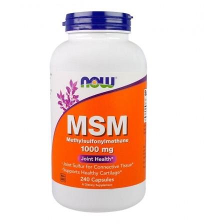 NOW Foods MSM Methylsulfonylmethane 1000mg 240 Veg Capsules
