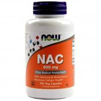 NOW Foods N-Acetyl Cysteine 600mg 100 Veg Capsules