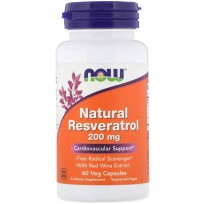 Now Foods Natural Resveratrol 200mg 60 veg caps.