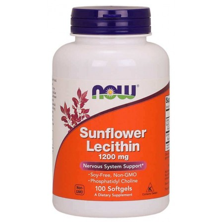 Now Foods Sunflower Lecithin 1200mg 100 Softgels