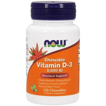 Now Foods Vitamin D-3 5000 IU 120 Chewable