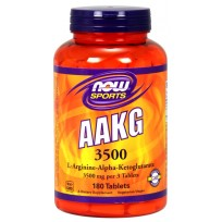NOW Foods AAKG 3500 mg 180 tabs.