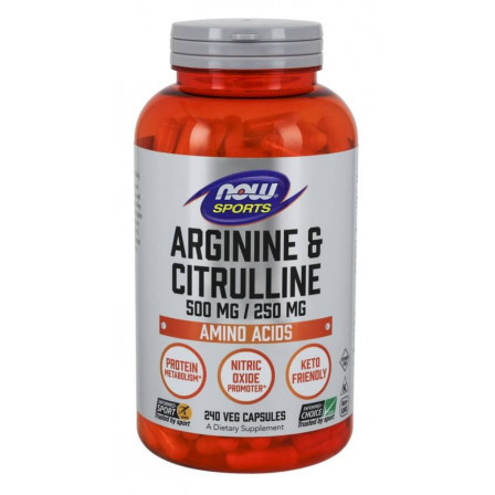 NOW Foods Arginine and Citrulline 240 Veg Capsules