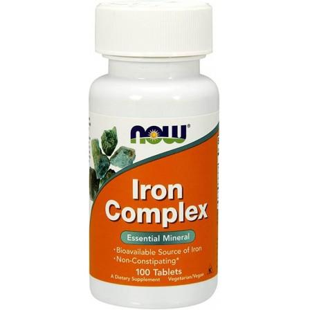 Now Foods Iron Complex 100 tabs.