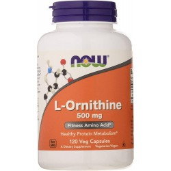 Now Foods L-Ornithine 500mg 120 veg caps.