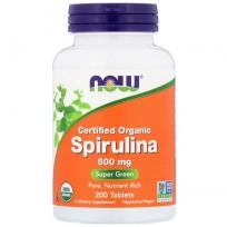 Now Foods Certified Organic Spirulina 500mg 200 tabs.