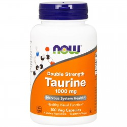 NOW Foods Taurine Double Strength 1000mg 100 Veg Capsules