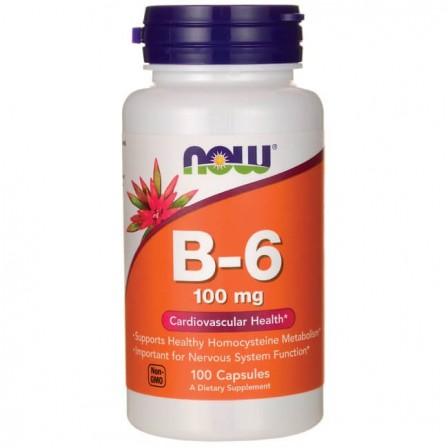 Now Foods Vitamin B-6 100mg 100 caps.