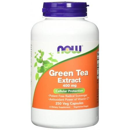NOW Foods Green Tea Extract 400 mg. 250 veg caps.
