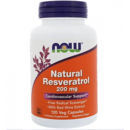 Now Foods Natural Resveratrol 200mg 120 veg caps.