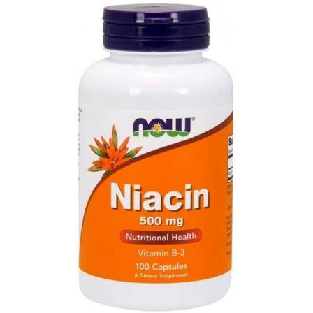 NOW Foods Niacin 500mg 100 caps.