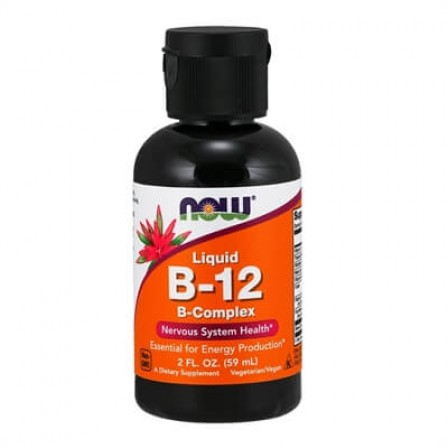 NOW Foods Liquid B-12 B-Complex 59 ml.