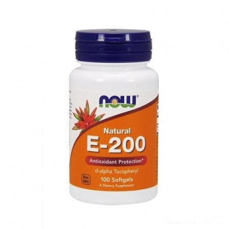 NOW Foods Vitamin E-200 100 softgels