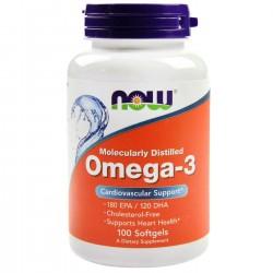 NOW Foods Omega 3 Molecularly Distilled 100 softgels