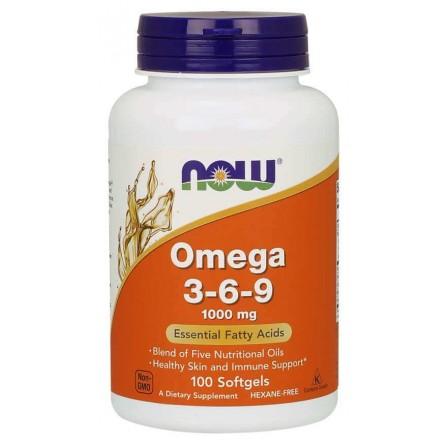 NOW Foods Omega 3-6-9 100 softgels