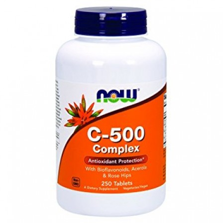 NOW Foods Vitamin C 500 Sustained Release with Rose Hip 250 tabs.