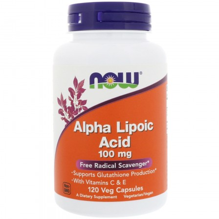 NOW Foods Alpha Lipoic Acid 100 mg 120 v caps