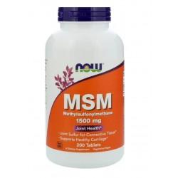 NOW Foods MSM Methylsulfonylmethane 1500mg 200 tabs.
