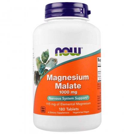 NOW Foods Magnesium Malate 1000mg 180 tabs.