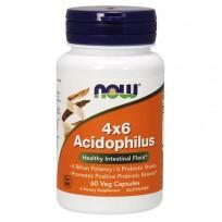 NOW Foods Acidophilus 4x6 60 Veg Capsules