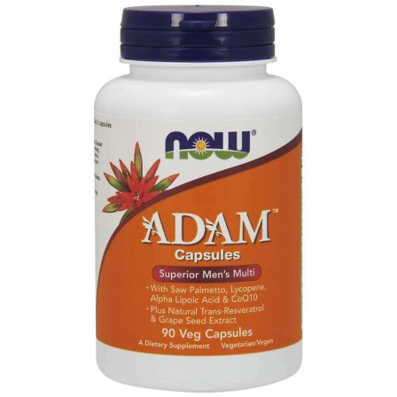NOW Foods ADAM Men`s Vitamins 90 veg caps.