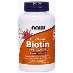 NOW Foods Biotin 10 mg (10 000 mcg) 120 caps.