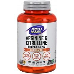 NOW Foods Arginine & Citrulline 120 Veg Capsules