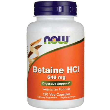 Now Foods Betaine HCL 120 vcaps.