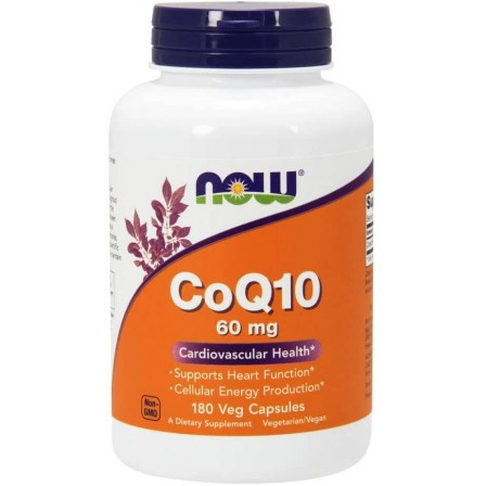 Now Foods CoQ10 60 mg 180 veg caps.