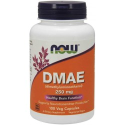 NOW Foods DMAE (Dimethylaminoethanol) 250mg 100 Veg Capsules