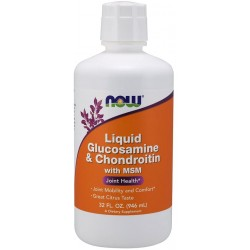 NOW Foods Glucosamine & Chondroitin with MSM Liquid 946 ml.