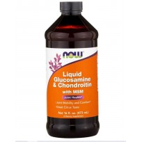 NOW Foods Glucosamine & Chondroitin with MSM Liquid 473 ml.