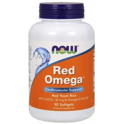 Now Foods Red Omega Red Yeast Rice with CoQ10 90 Softgels