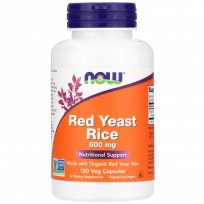 Now Foods Red Yeast Rice 120 Veg Capsules