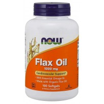 NOW Foods Flax Oil 1000mg 100 caps.