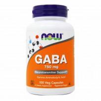 Now Foods GABA 750mg 100 veg caps.