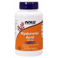 NOW Foods Hyaluronic Acid with MSM 50 mg 120 veg caps.