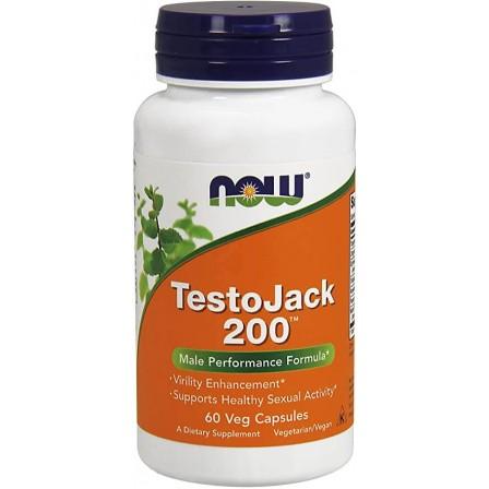 NOW Foods Testo Jack 200 60 Veg Capsules