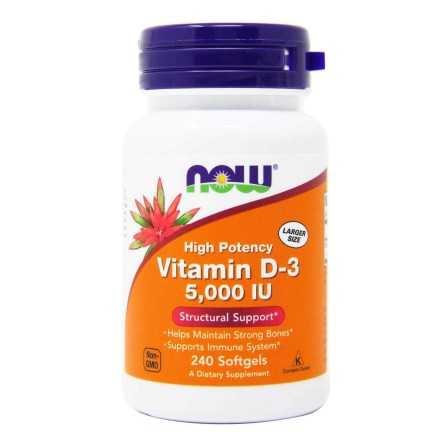 NOW Foods Vitamin D-3 5000 IU 240 softgels