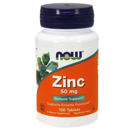 NOW Foods Zinc 50 mg 100 tabs.