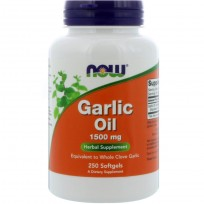 NOW Foods Garlic Oil 1500 mg 250 softgels