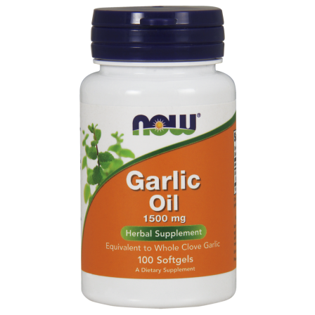 NOW Foods Garlic Oil 1500mg 100 softgels