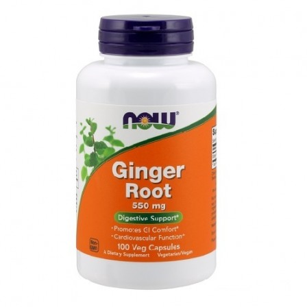 NOW Foods Ginger Root 550mg 100 veg. caps.