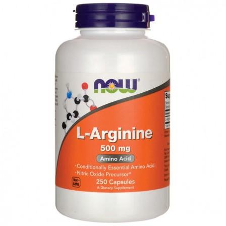 NOW Foods L-Arginine 500 mg. 250 caps.