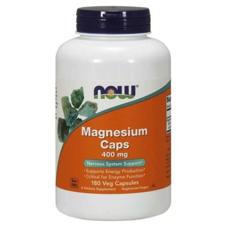 NOW Foods Magnesium 400mg 180 Veg Capsules