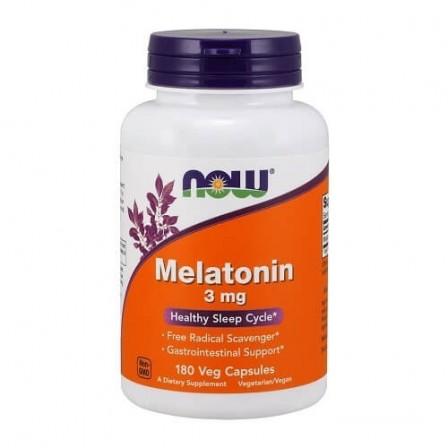 NOW Foods Melatonin 3mg 180 veg caps.